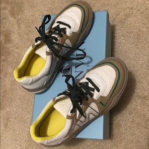 Lanvin White Mesh Low Top Sneaker